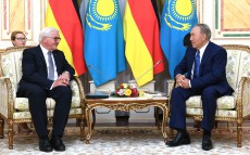 Meeting with Frank-Walter Steinmeier, President of Germany, who arrived in Kazakhstan on an official visit