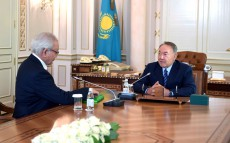 Meeting with a public man Umirzak Aitbayev