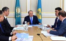 Meeting with Islam Abishev, Chairman of Committee on Water Resources at Agriculture Ministry